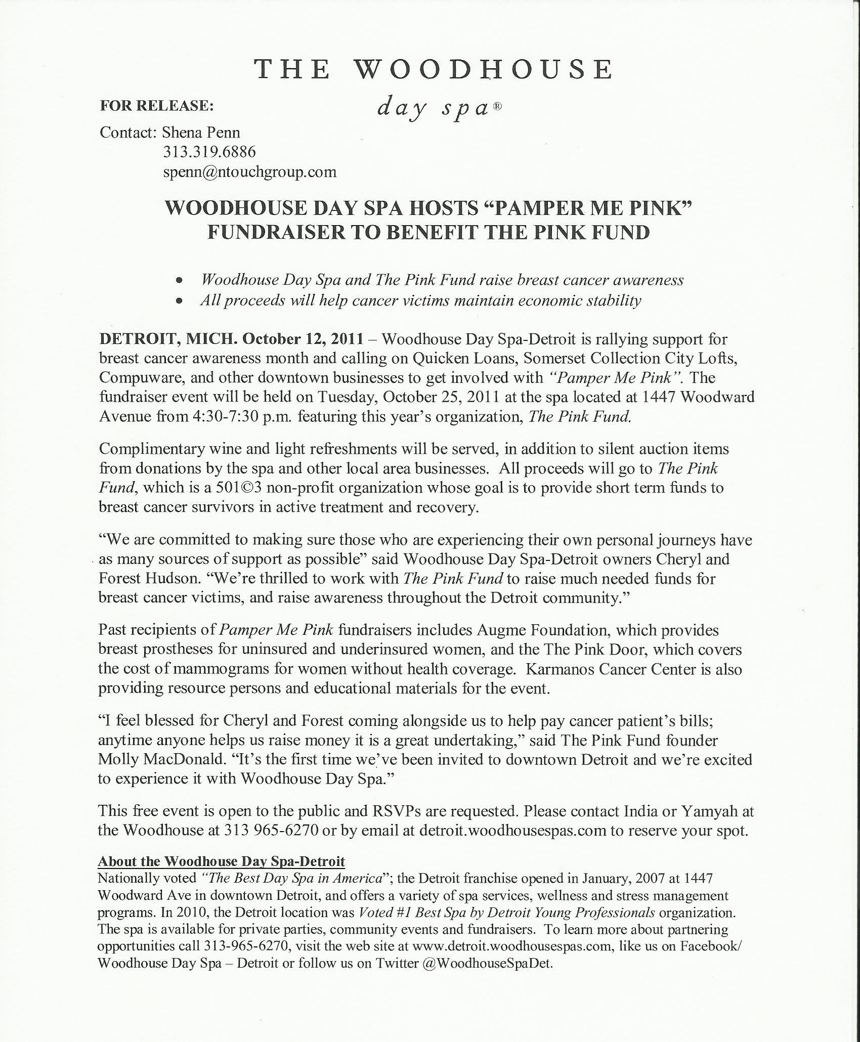 Press Release Samples | Shena Penn